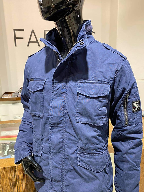 Superdry navy military style jacket