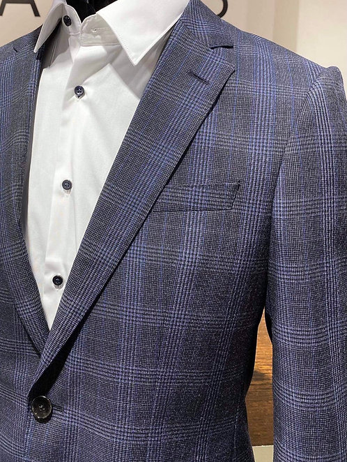 Hugo Boss flannel check suit
