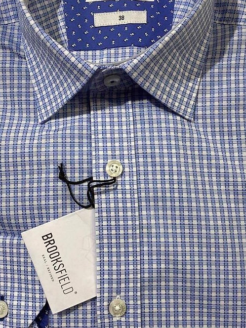 Brooksfield blue check shirt