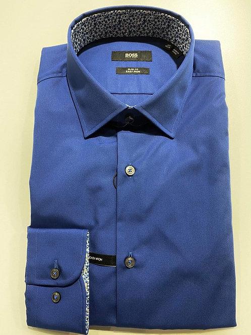 Hugo Boss cobalt blue slim fit shirt
