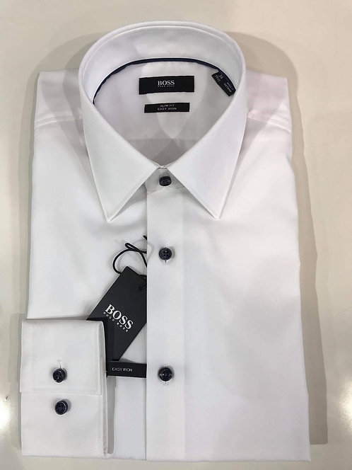 Hugo Boss white slim fit shirt