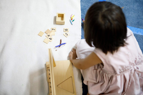 Maths Play in Our Nursery Section.