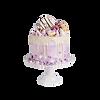 cake, purple, design
