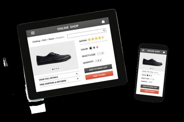 e-commerce, ipad, store, shoes