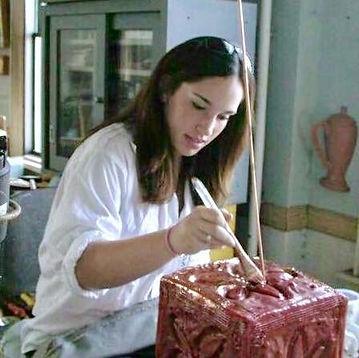 (16 YO) copper paint on wax mold_(Uncle)