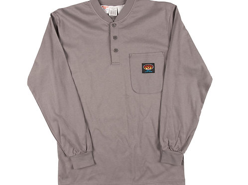Rasco fr henley long sleeve grey shirt