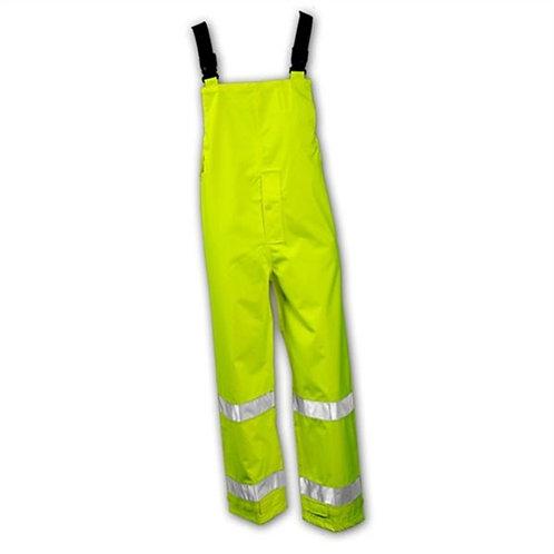 Tingley Electra Class E Flame Resistant ARC rated PPE Hi Vis Reflective Rain Bib