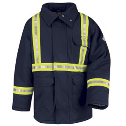Bulwark Flame Resistant Parka jacket with Reflective Tape
