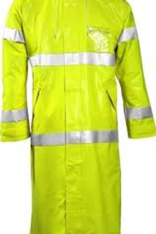 "Tingley Comfort Brite FR 48"" Trench Hi Vis Lime Reflective Rain Coat"