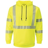Fast, free shipping, frc deals, inexpensive fr, frc in stock now, flame resistant clothing, fr clothing, cheap fr clothing, discounted fr hi vis sweatshirt, fr hi vis hoodie, fr reflective hi vis hoodie, reflective tape bulwark fr pullover