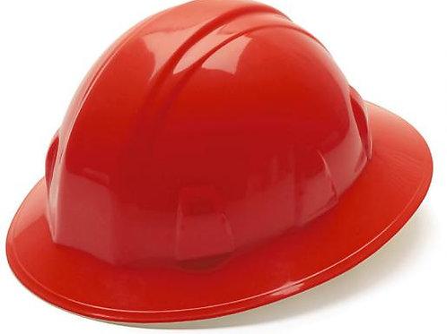 Full brim 4 PT hard hat-red