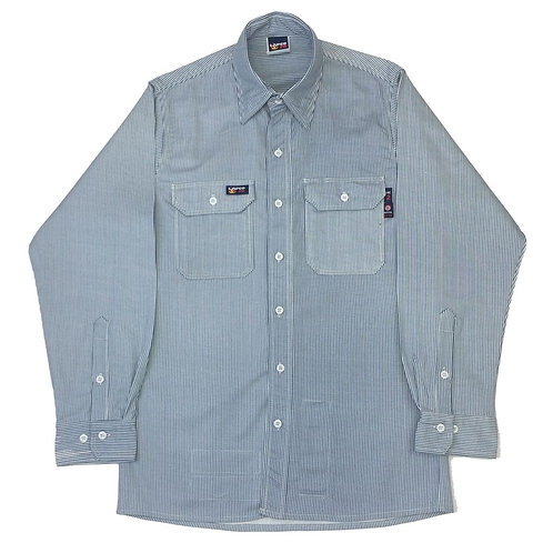 Lapco FR Blue/White Stripe Work Shirt