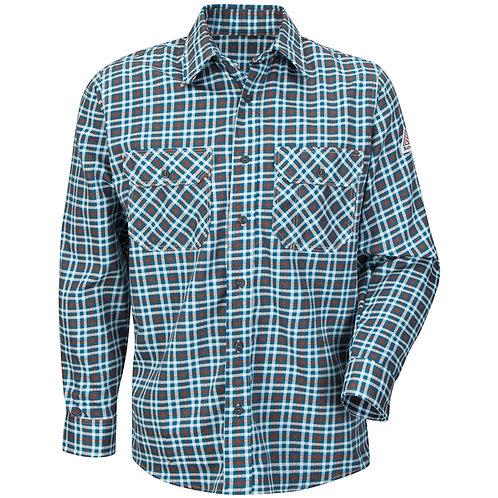 Sld6tl-Bulwark teal fr plaid shirt