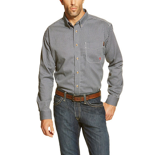 ARIAT FR SHIRT-BLUE MULTI PLAID