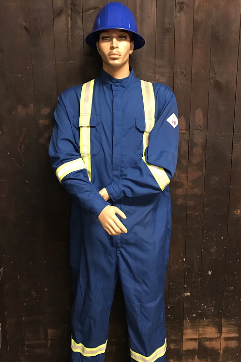 Nomex 4.5 oz FR Royal Blue Coverall with Y/S/Y reflective tape