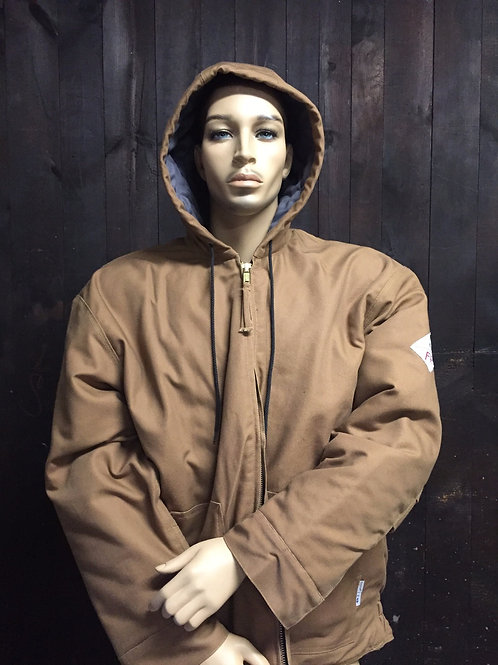 Magna FR Insulated Duck Brown Quilted FR Indura Bomber Jacket
