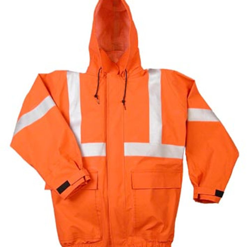 Nasco Petrolite FR Hi Vis orange rain jacket
