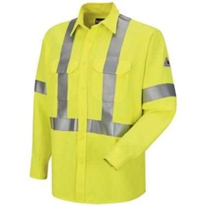 SMW4-Bulwark hi vis reflective fr button shirt
