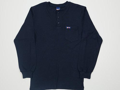 FR Henley Long sleeve Lapco Navy Shirt