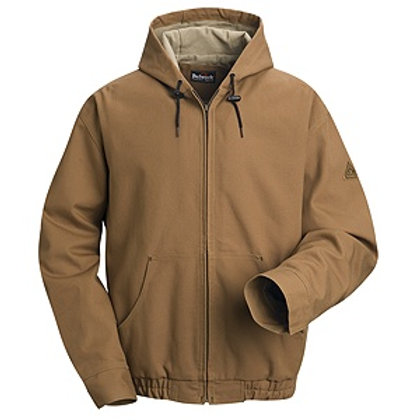 Jlh4bd Bulwark duck hooded fr lined bomber jacket