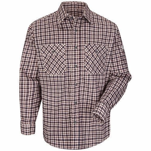 Sld6bg Bulwark fr burgundy plaid work shirt