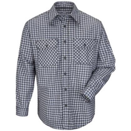 SLD6NK Bulwark navy plaid fr work shirt