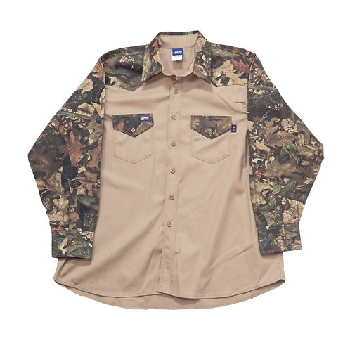 Lapco Fr Camo Two-Toned Work Shirt