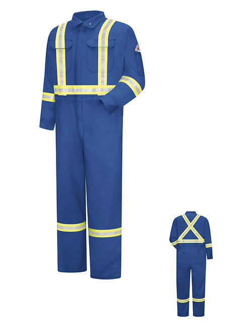 Bulwark Cmbcrb 7oz Cooltouch Royal Blue FR Coverall with Reflective tape