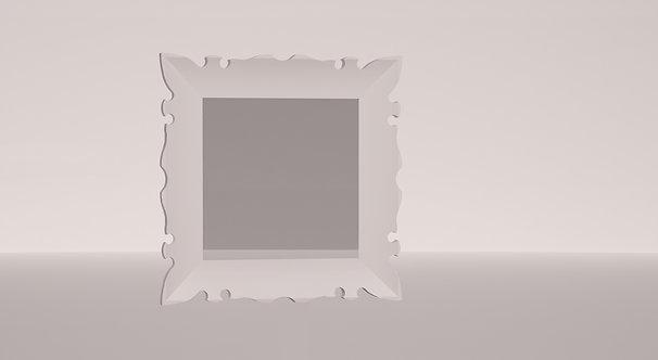 MIROIR BLANC - 60 CM X 60 CM