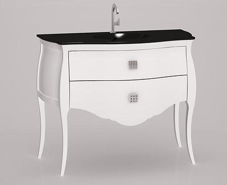 Meuble bas seul Blanc- 110 cm