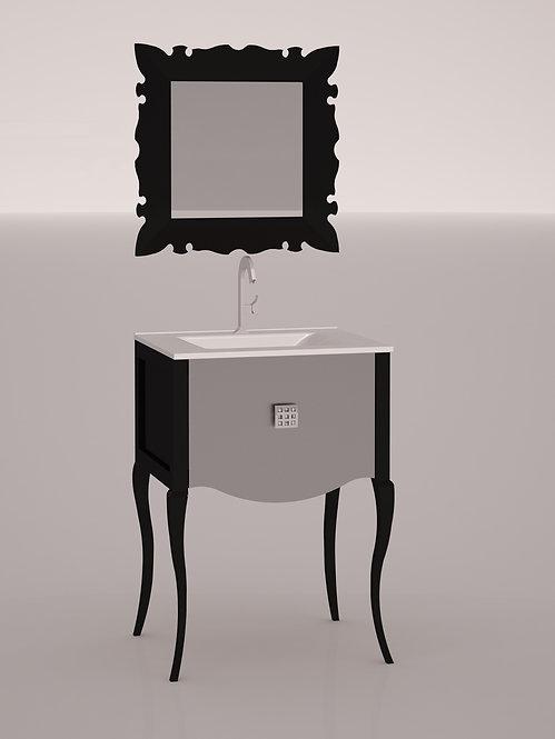 Composition 60 cm - Noir et argent