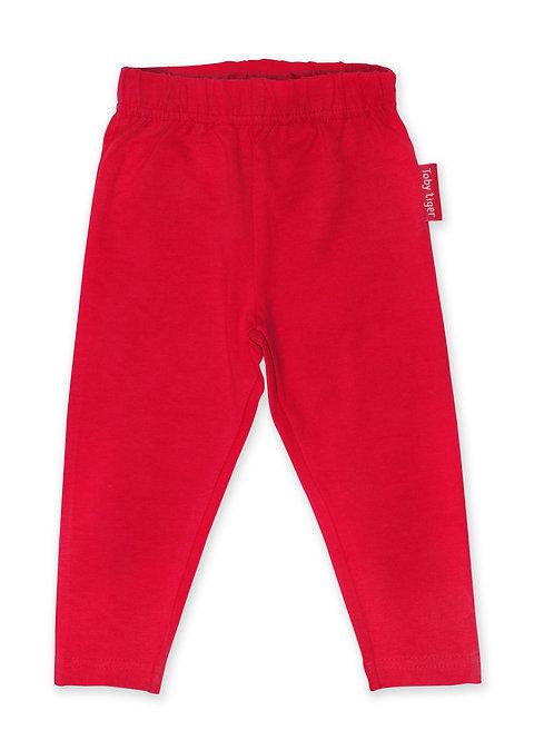 Toby Tiger Organic Red Basic Leggings