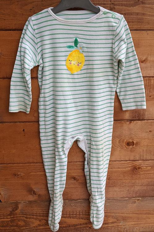 TU Striped Lemon Sleepsuit