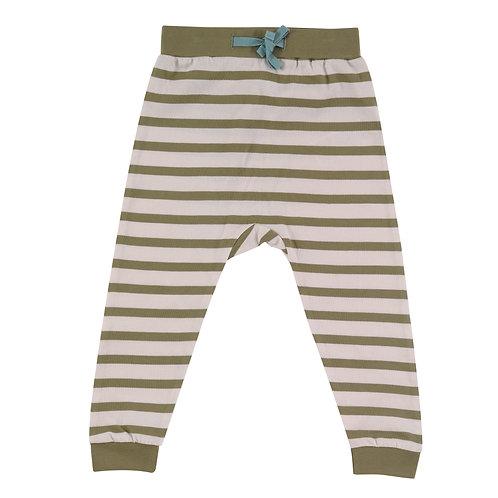 Breton Stripe Joggers, Olive