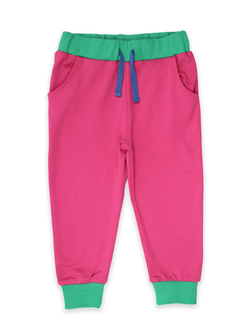 Toby Tiger Pink Organic Joggers