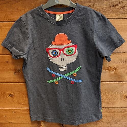 Frugi Skull & Skateboard Crossbones Applique T-Shirt