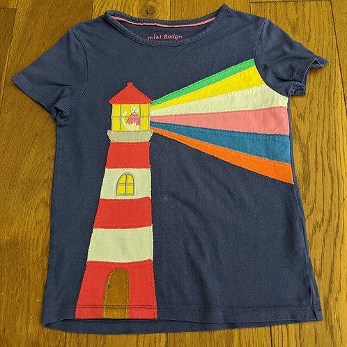 Mini Boden Applique Lighthouse T-Shirt