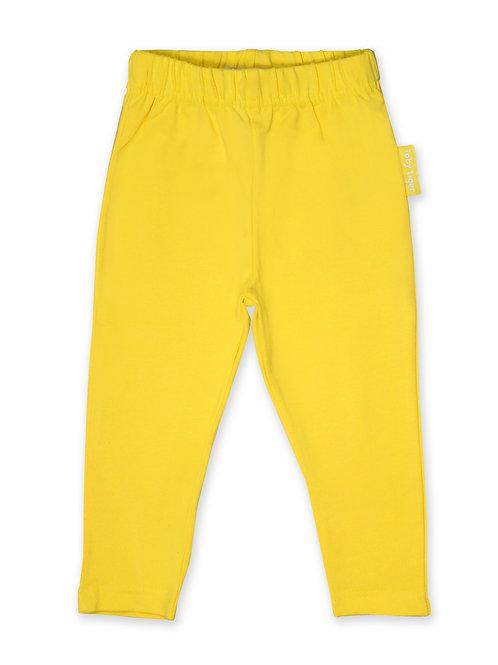 Toby Tiger Organic Bright Yellow Basic Leggings
