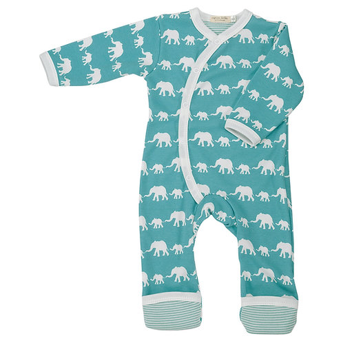 Blue Elephant Romper