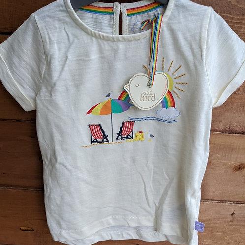 Little Bird Beach scene T-Shirt