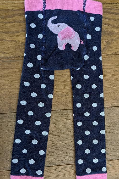 JoJo Maman Bebe Knitted Elephants Leggings