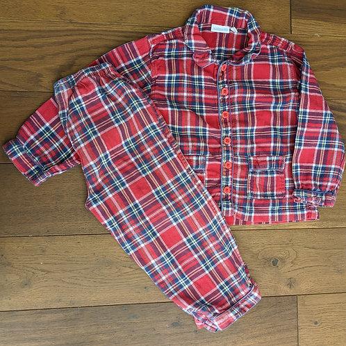 JoJo Maman Bébé Tartan Pyjamas