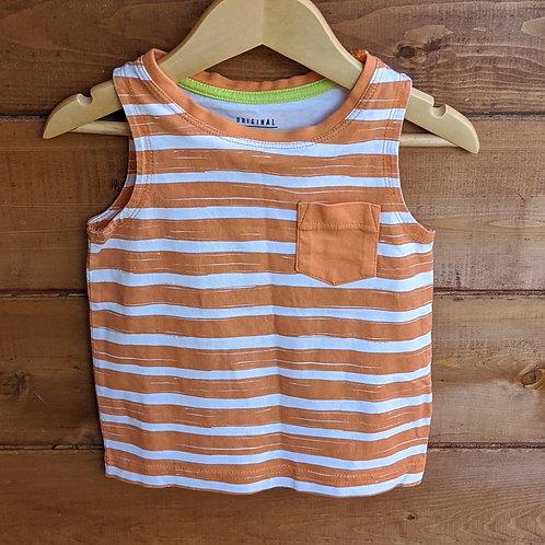 F&F Orange Stripe Vest Top