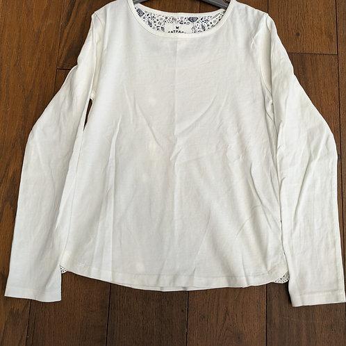 Fat Face Plain White Long Sleeve Top