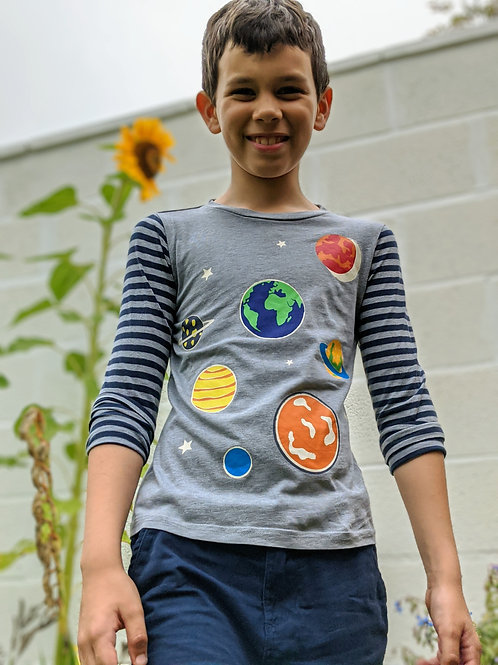 Mini Boden Outer Space Long Sleeve Top