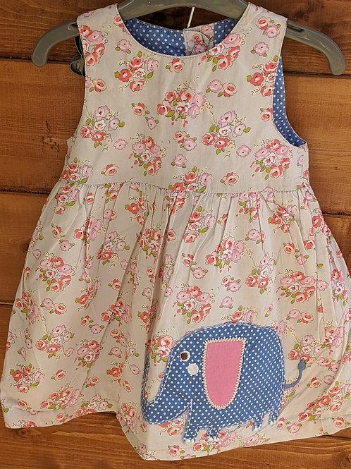Mini Boden Pinnie Floral Elephant Appliqué Dress