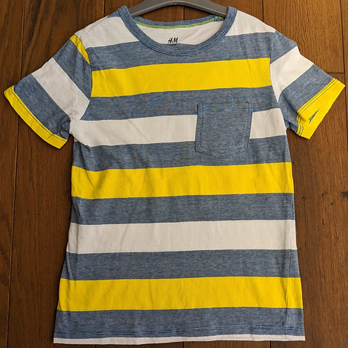 H&M Basic Organic Striped T-Shirt