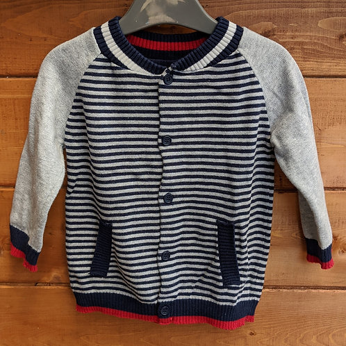 George Stripy Knit Cardigan