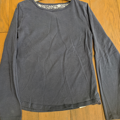Fat Face Plain Blue Long Sleeve Top