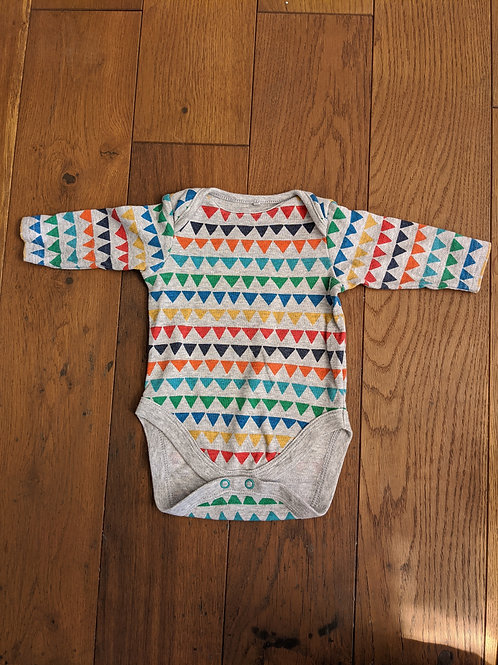 Next Rainbow Triangles Long Sleeve Bodysuit